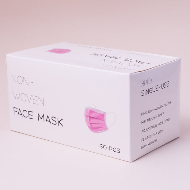 Breathable Fashion Masks - Adults, 50 pcs - 50 pcs - Pink - The Skin Boutique - Face Mask - The Skin Boutique