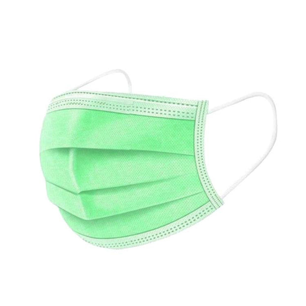Disposable Face Mask - 3 ply - 50 pcs - Green - The Skin Boutique - Face Mask - The Skin Boutique