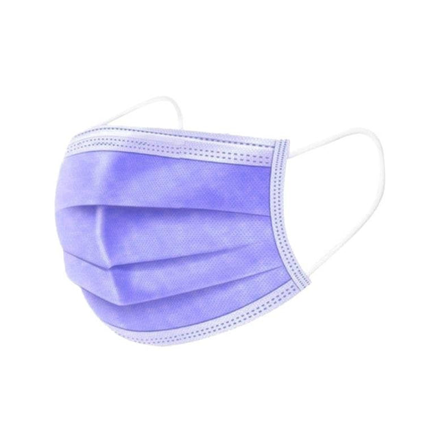 Disposable Face Mask - 3 ply - 50 pcs - Purple - The Skin Boutique - Face Mask - The Skin Boutique