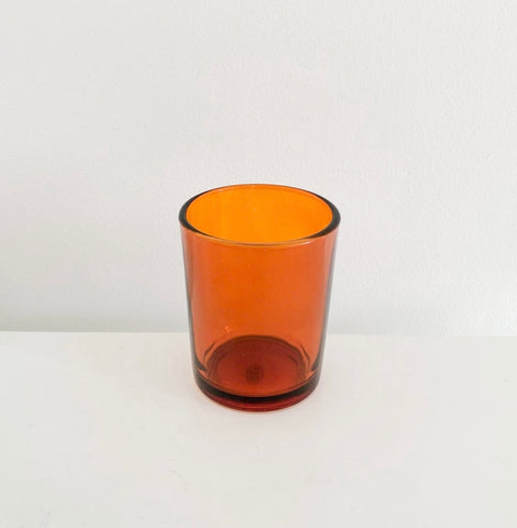 Amber Glass Tealight Holder