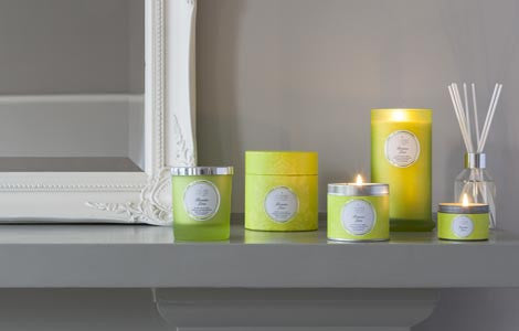 Couture Tall Glass Candle : Persian Lime