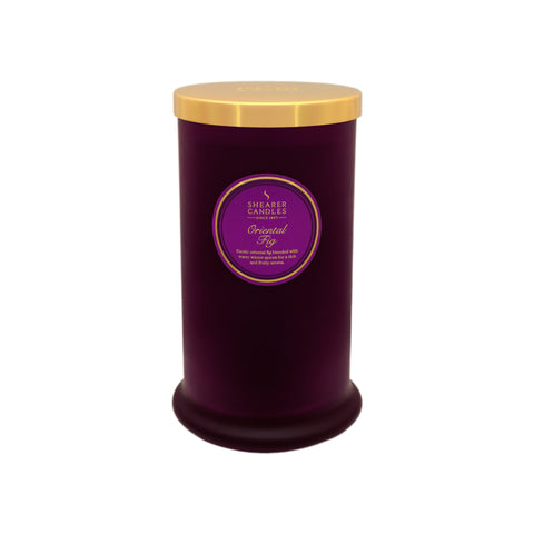 Couture Tall Glass Candle : Oriental Fig