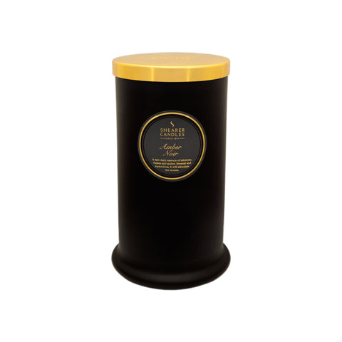 Couture Tall Glass Candle : Amber Noire