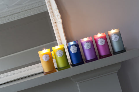 Couture Tall Glass Candle : Lavender & Geranium