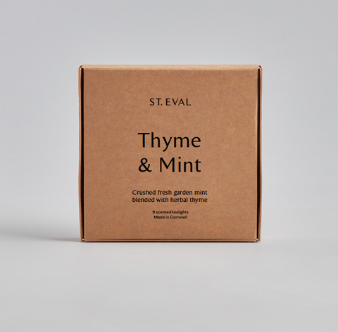 Boxed Tealights : Thyme & Mint
