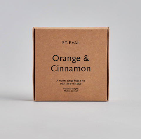 Boxed Tealights : Orange & Cinnamon