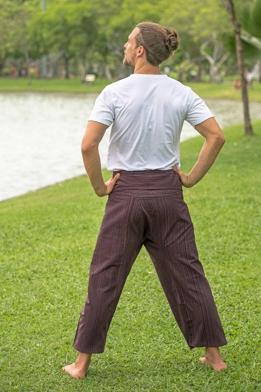 Men's Brown Fisherman Pants