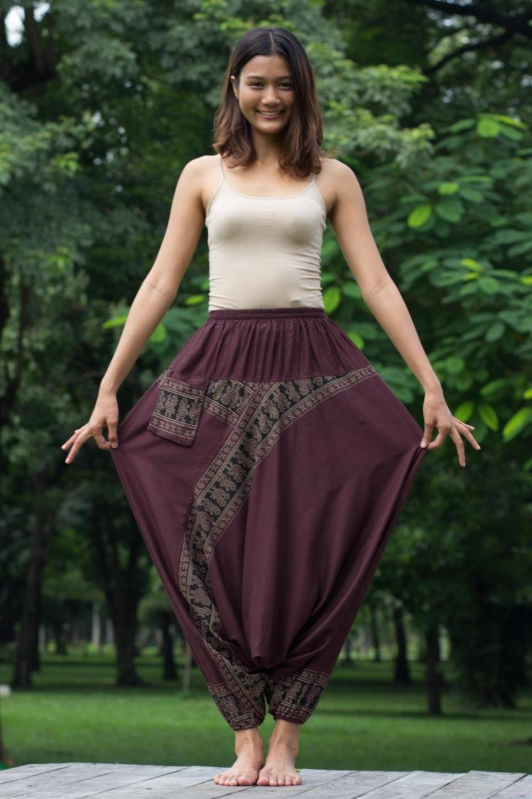 Brown Harem Pants
