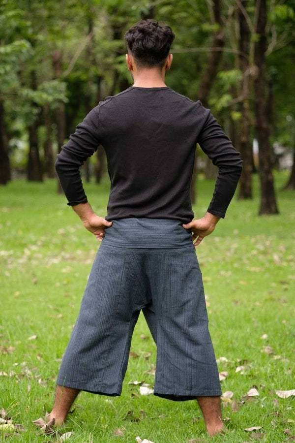Men's Dark Gray 3/4 Fisherman Pants