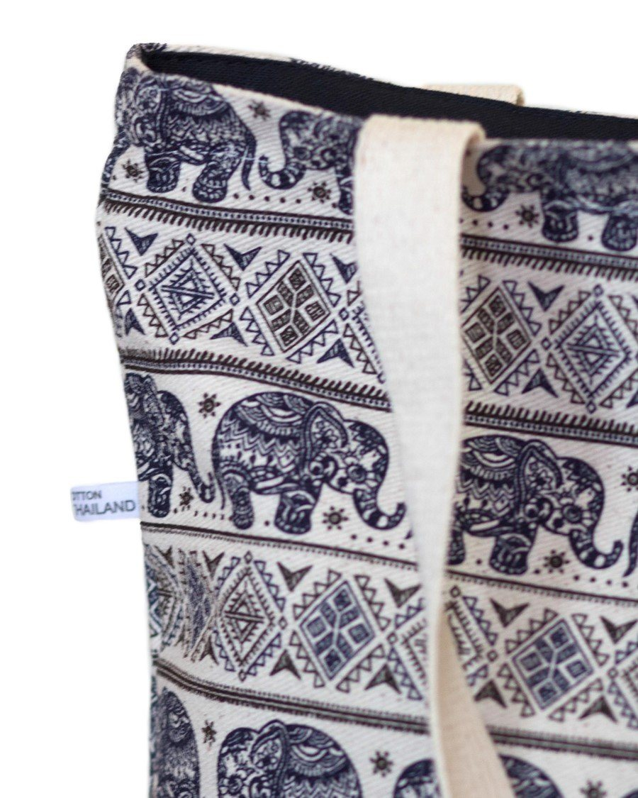 Navy Elephant Bag Details