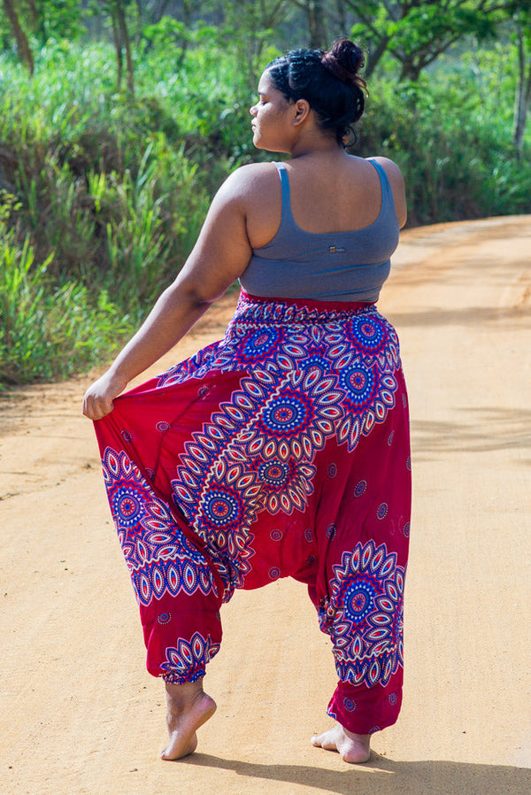 Plus Size Red Lotus Pants