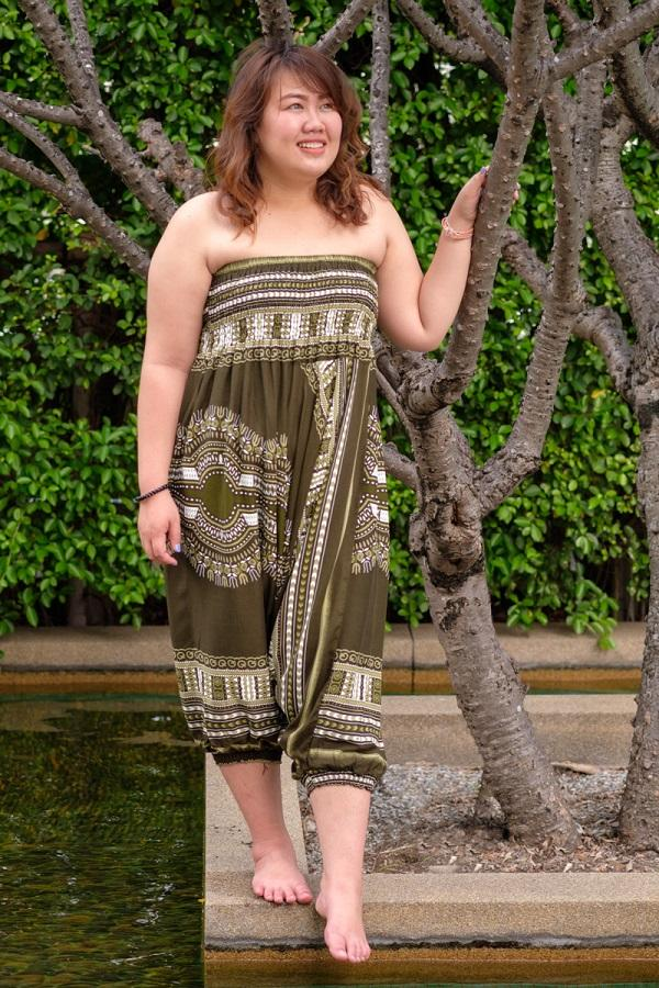 Plus Size Green Thai Hippie Pants