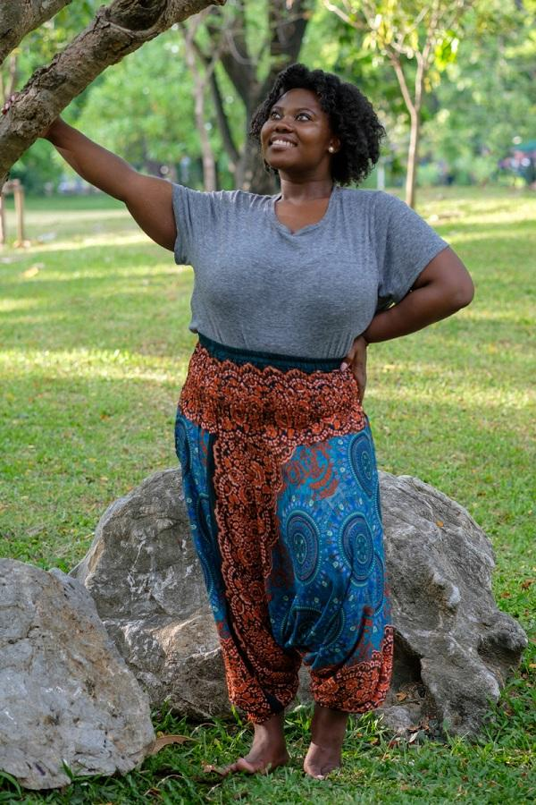 Plus Size Orange Blossom Pants