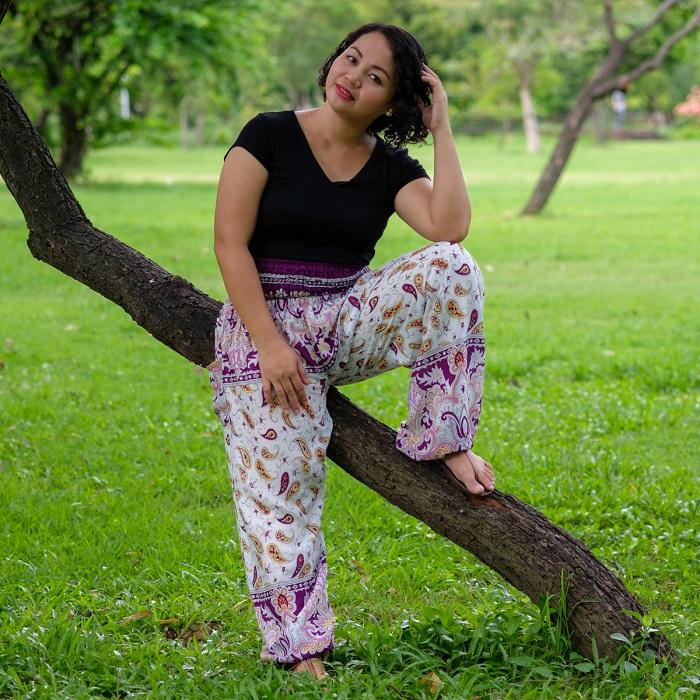 Purple Plus Size Flow PantsPlus Size
