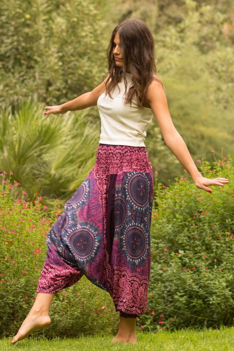 Purple Blossom PantsHarem Pants