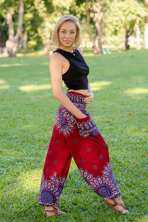 Red Petal PantsYoga Pants