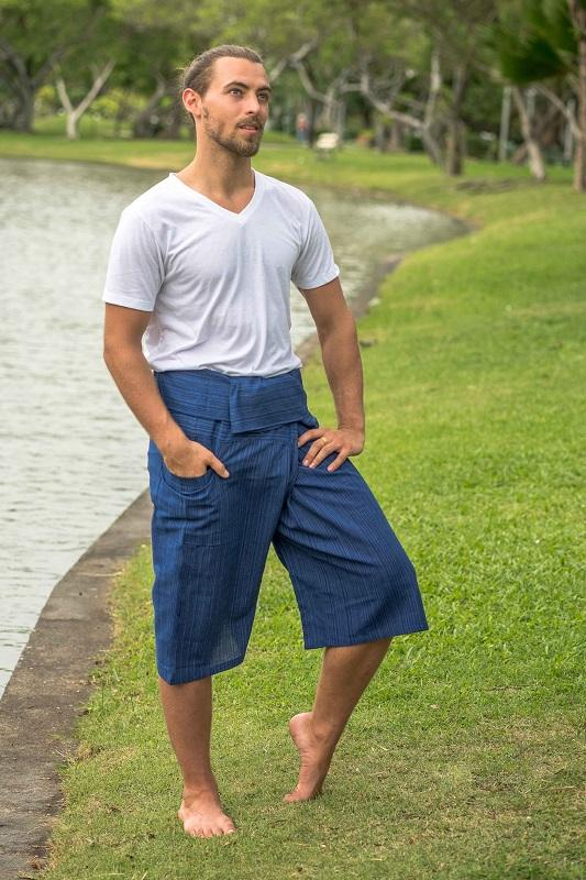 Men's Royal Blue 3/4 Fisherman Pants