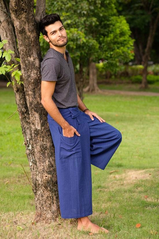 Men's Royal Blue Fisherman Pants