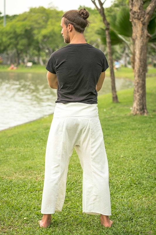 Men's White Fisherman Pants