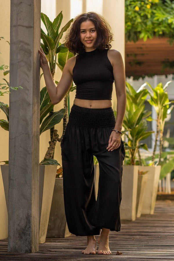 Black Crystal Pants