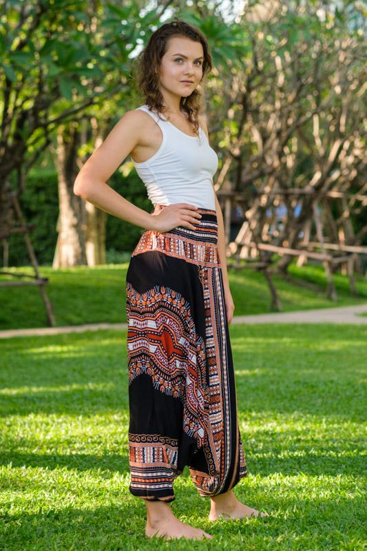 Black Thai Hippie PantsHarem Pants