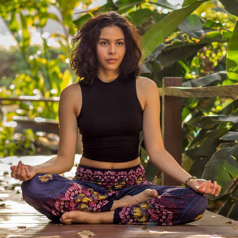 Women in meditation seated pose
