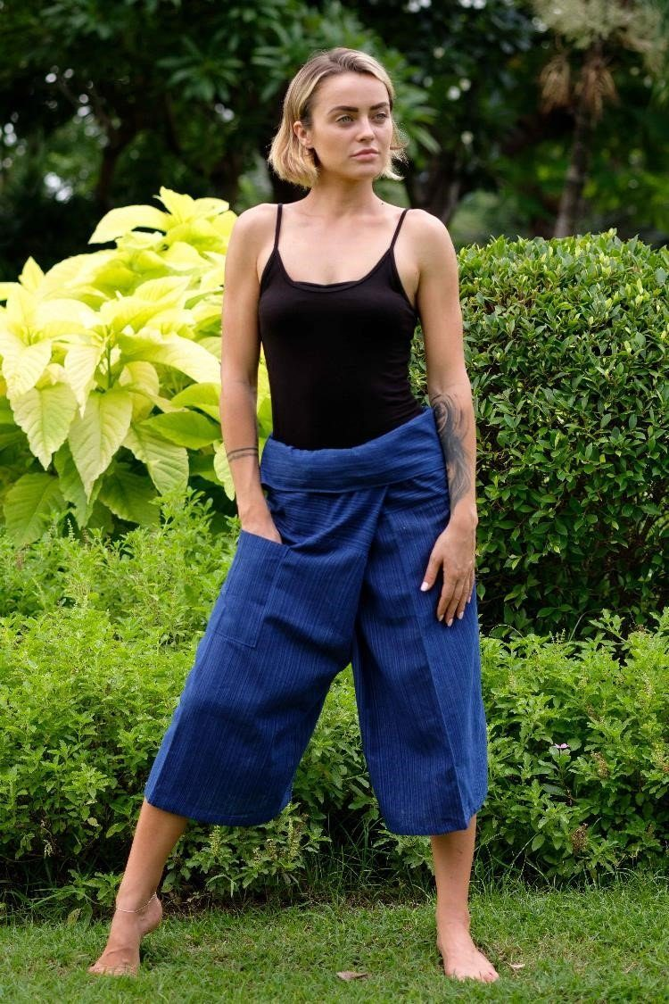 Royal Blue 3/4 Fisherman Pants