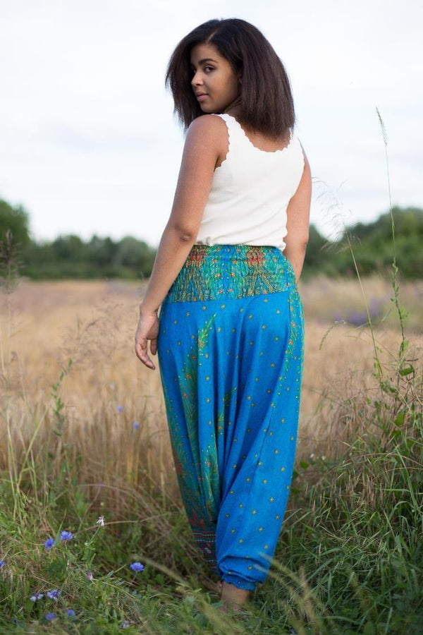 Blue Peacock PantsHarem Pants