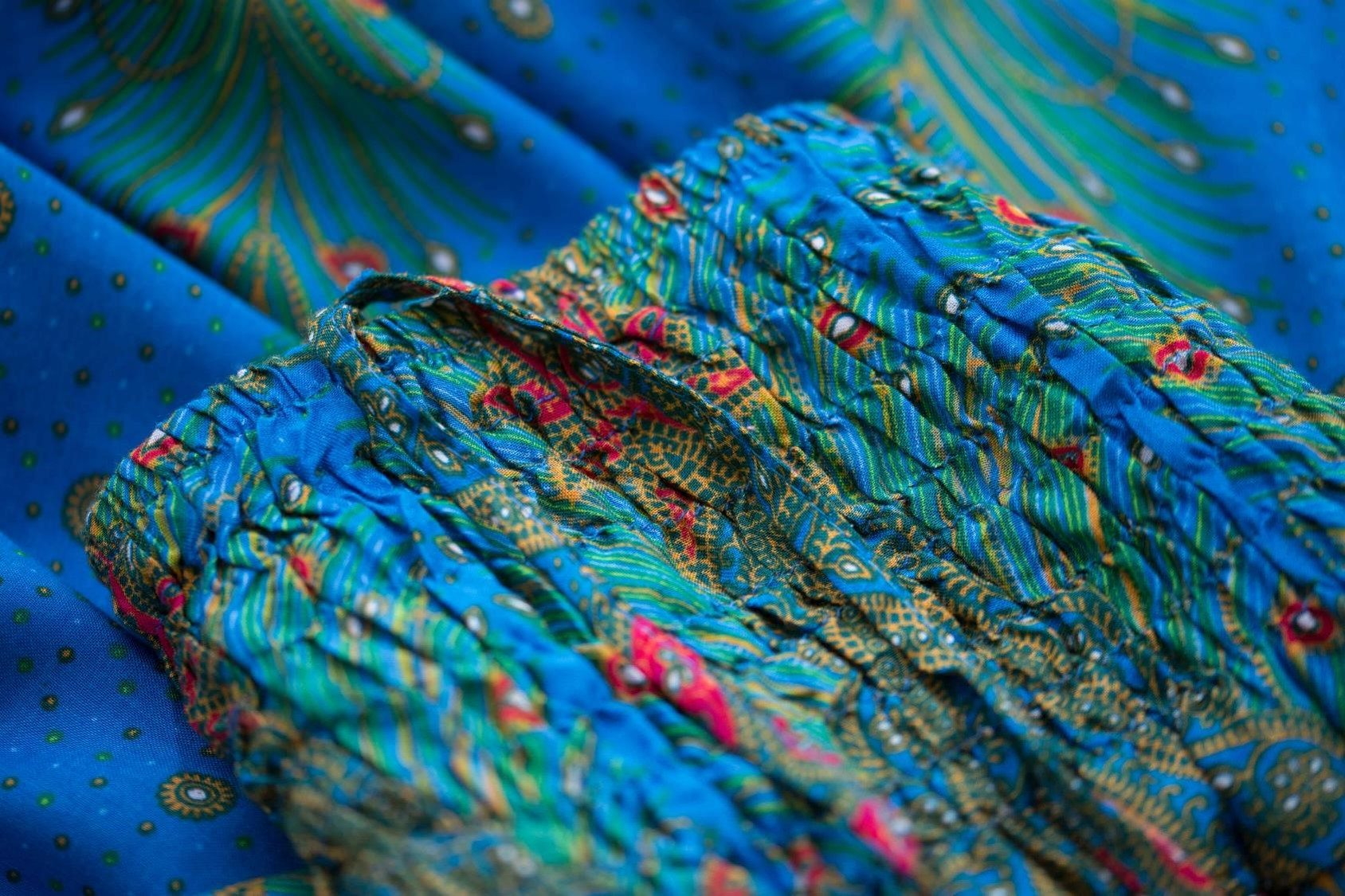Blue Peacock Pants