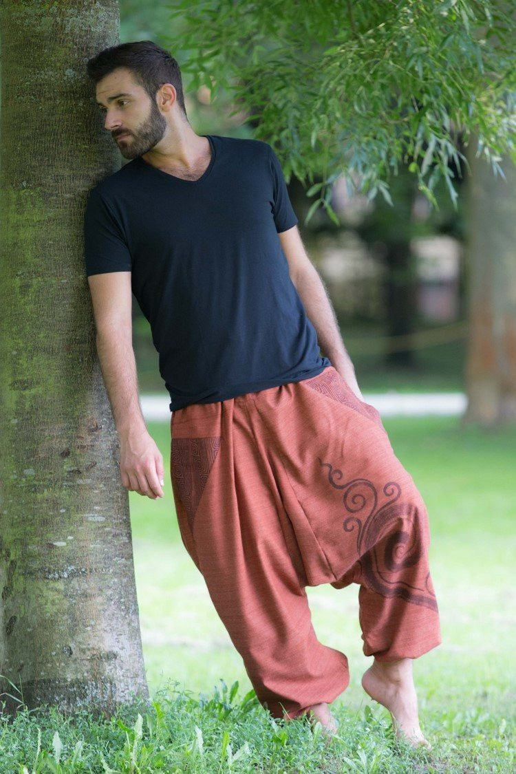 Brick Red Tribal Pants