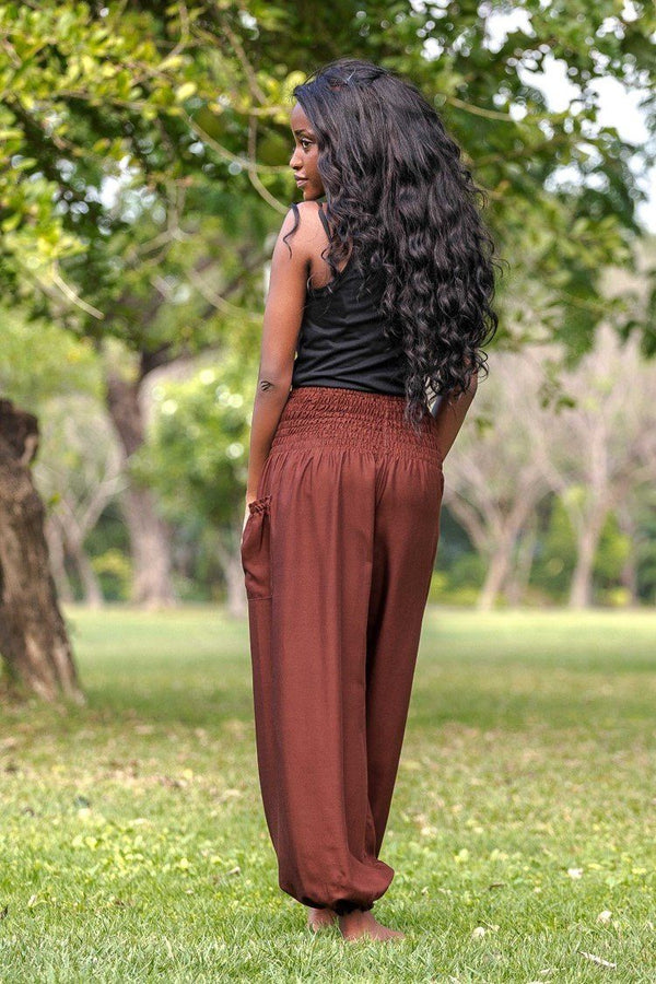 Brown Crystal Pants