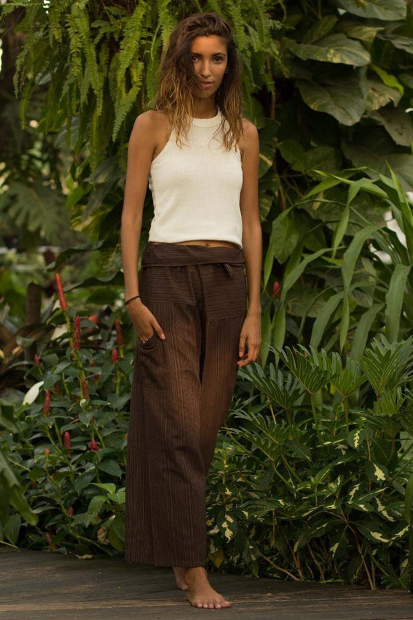 Brown Fisherman Pants