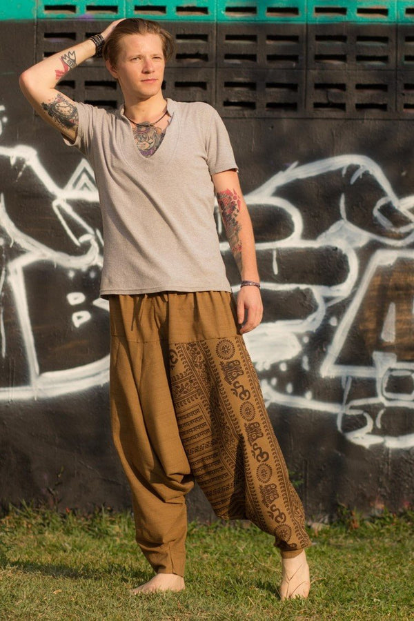 Brown Om Pants