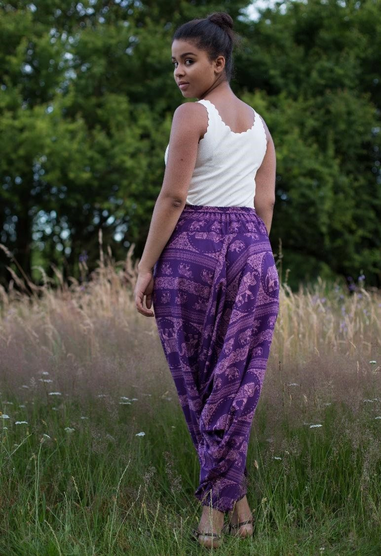 Purple Elephant Pants