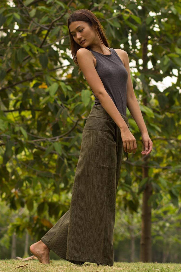 Olive Green Fisherman Pants