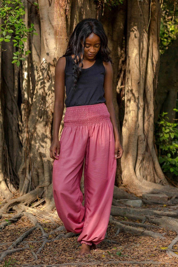 Dark Pink Crystal Pants