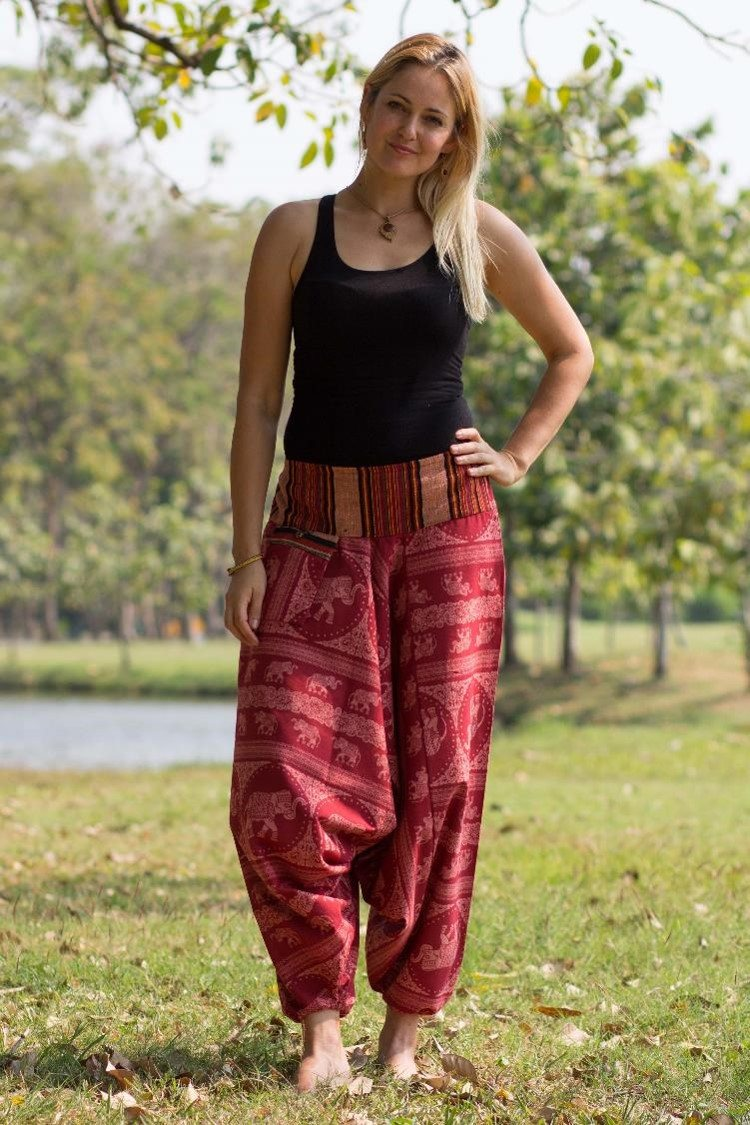 Red Elephant Pants