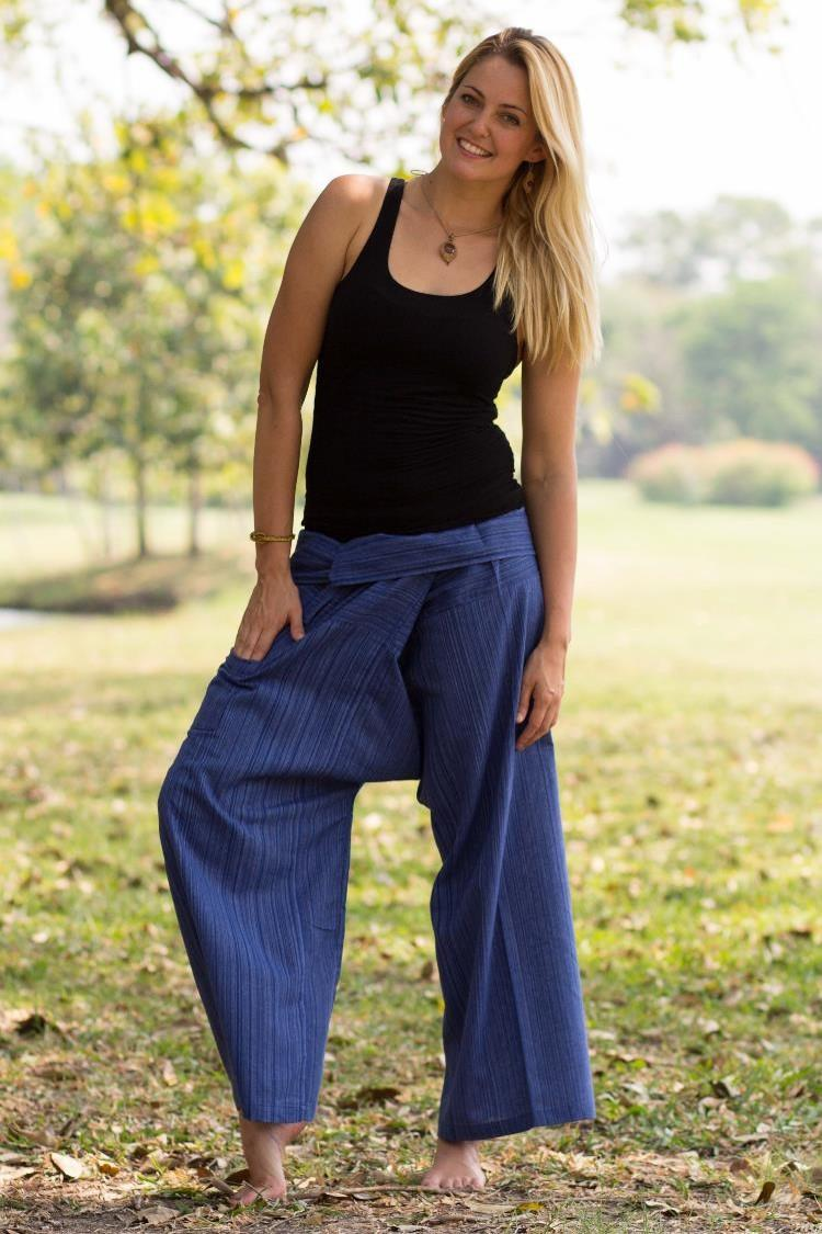 Royal Blue Fisherman Pants