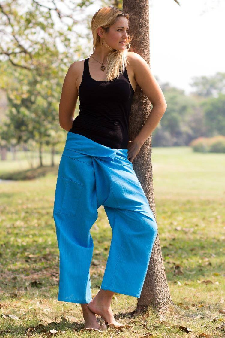 Sky Blue Fisherman Pants