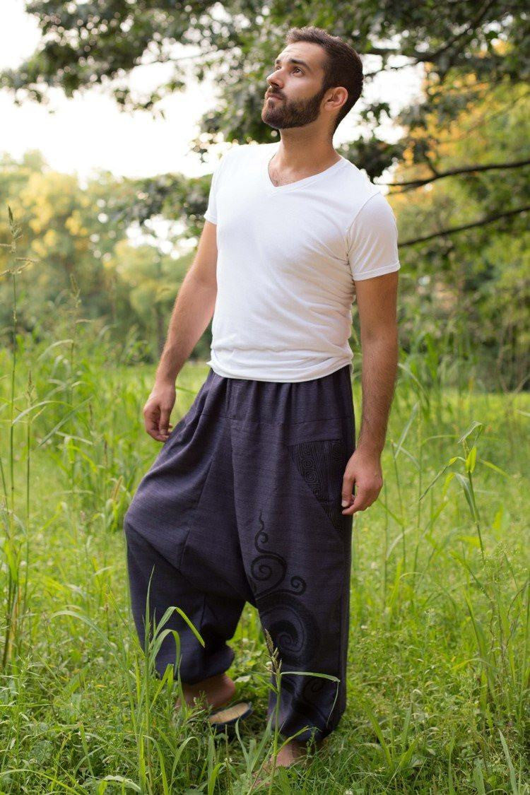 Dark Blue Tribal PantsMenswear