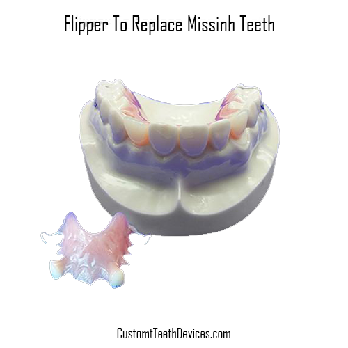 Dental Flipper for Missing Teeth