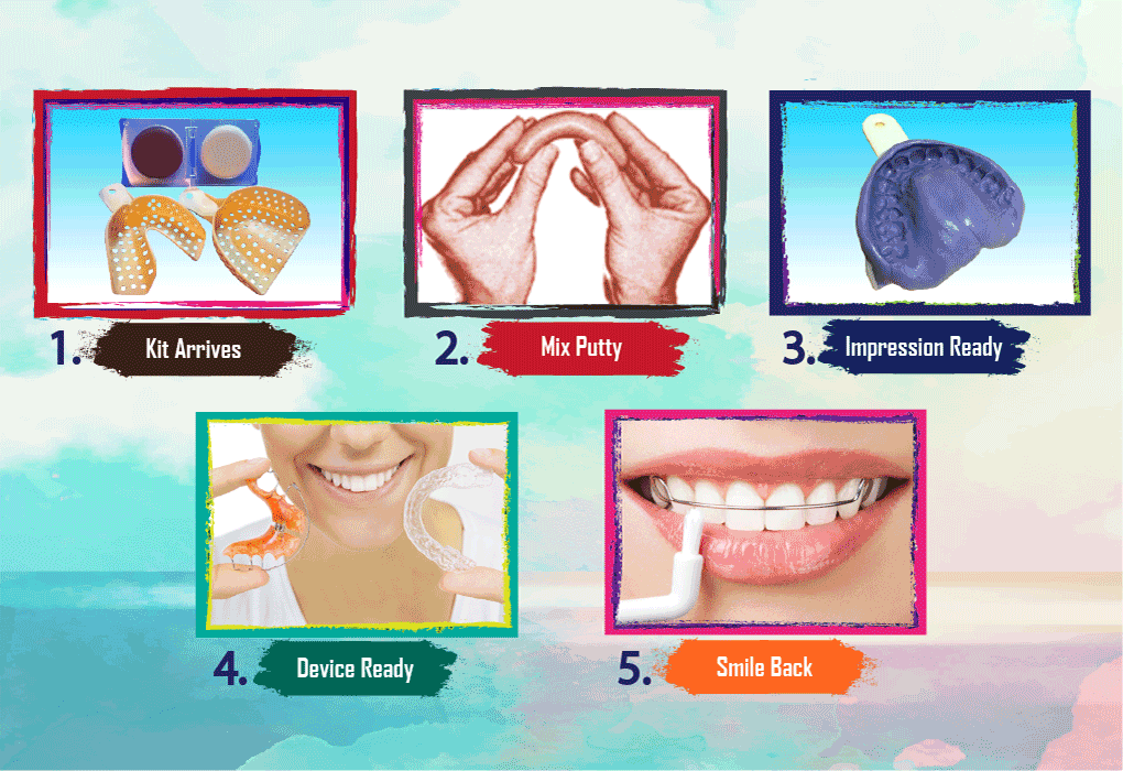 Taking Teeth Impression at Home