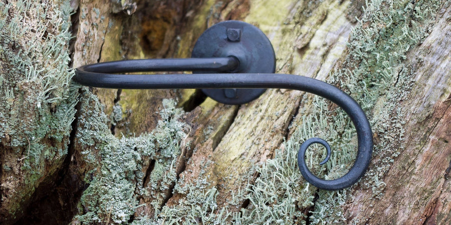 Wrought Iron Scroll Hold Back