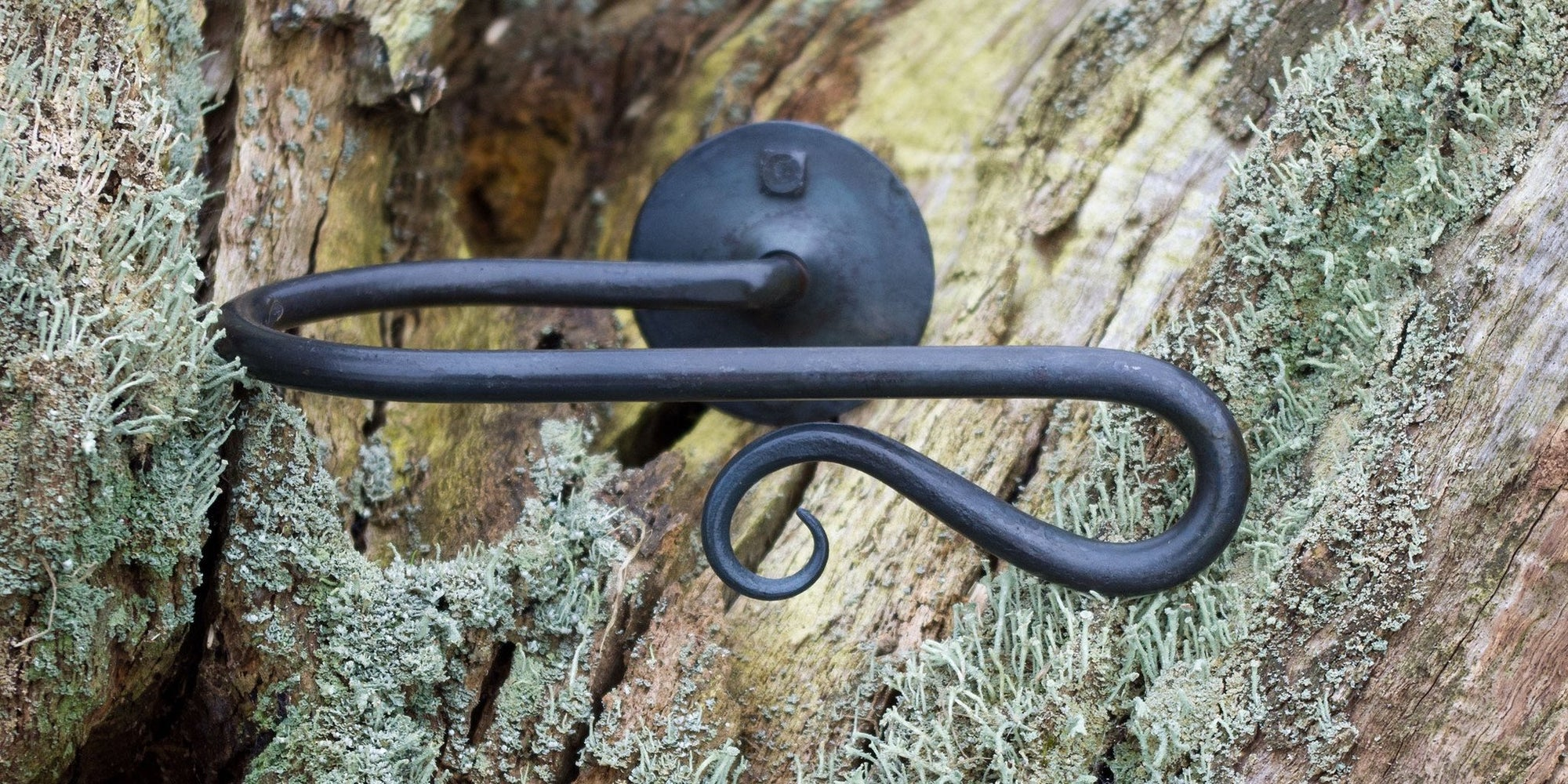 Wrought Iron Shepherd's Crook Hold Back