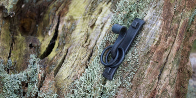 Wrought Iron Tie-back Hook & 2 Rings