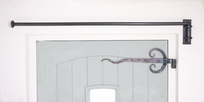 20mm Solid Wrought Iron Drapery Arm with Standard Bracket