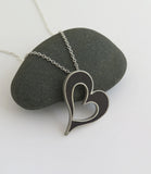 black heart necklace
