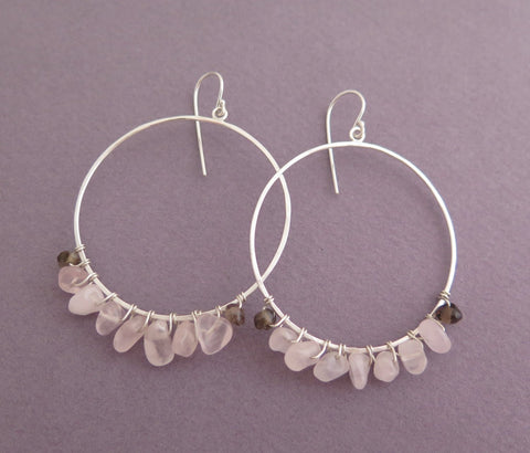 big hoop earrings, sterling silver
