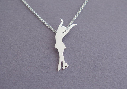 figure skating pendant necklace