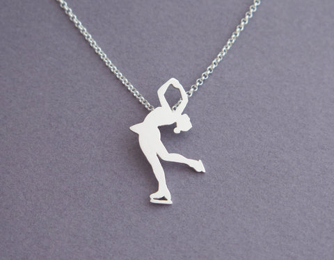 figure skater necklace pendant